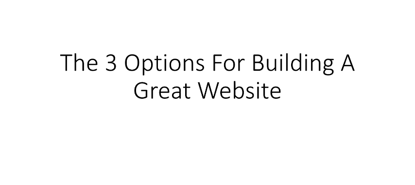 4. The 3 Options For Building A Great Website