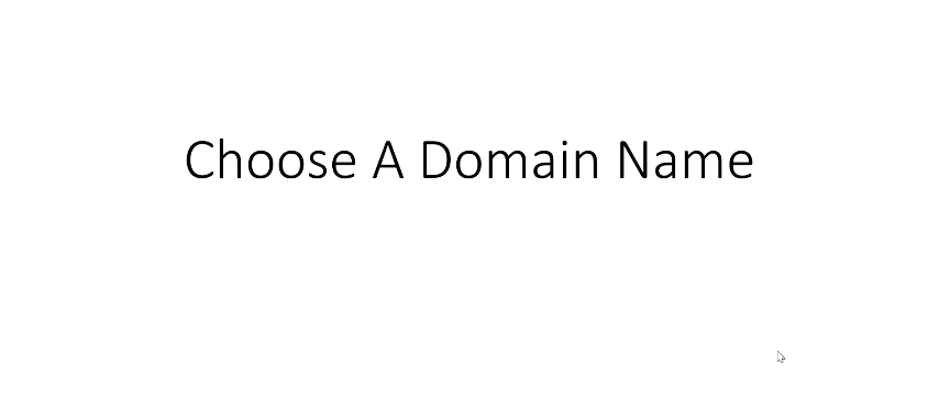 5. Choose A Domain Name