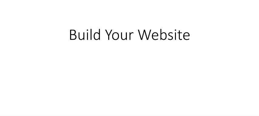 6. Build Your Website